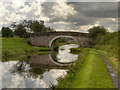 SD6124 : Leeds and Liverpool Canal, Ollerton Bridge No 1 by David Dixon