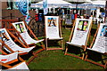 NT2473 : Readers' deckchairs, Edinburgh Book Festival by Jim Barton