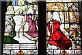 SJ5451 : 16th century Stained Glass in St Nicholas' Chapel, Cholmondeley by Jeff Buck