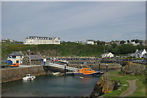 NW9954 : Portpatrick Hotel & harbour by Leslie Barrie