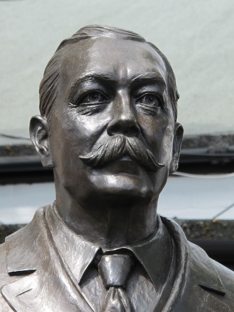 Statue of Sir Arthur Conan Doyle, located in Crowborough, England