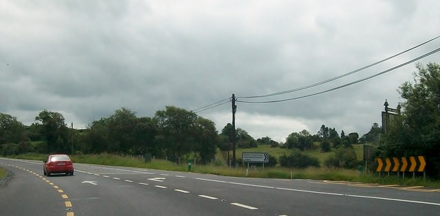 The N3 at its junction with Aughadreenagh Drive
