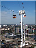TQ3980 : The Emirates Air-Line cableway across the Thames by Rod Allday