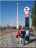 TQ3979 : The Greenwich end of the Emirates Air-Line cable car line by Rod Allday