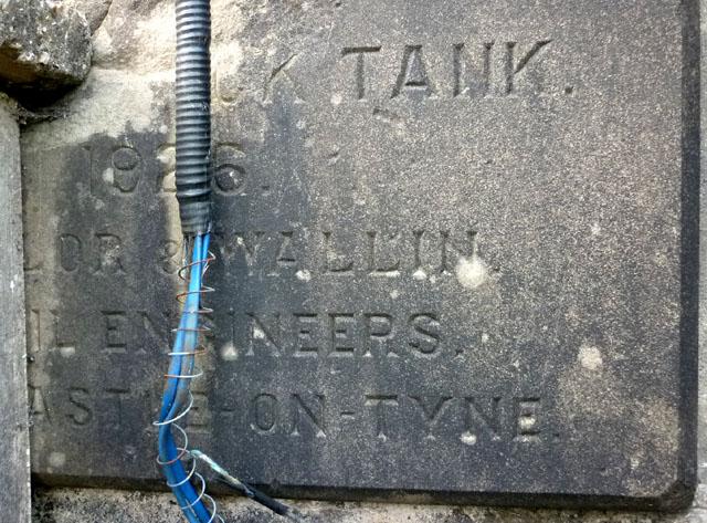 Plaque on Haverbrack Tank