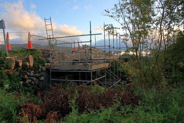 Repairing the Bridge over the Allt Mhic Chiarain