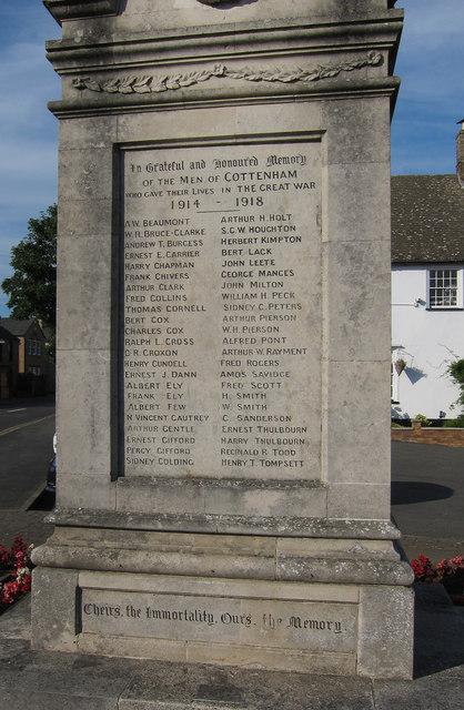 Cottenham War Memorial