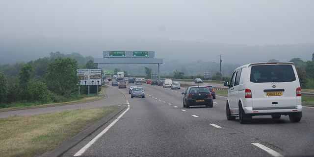 A38, approaching the A380 junction