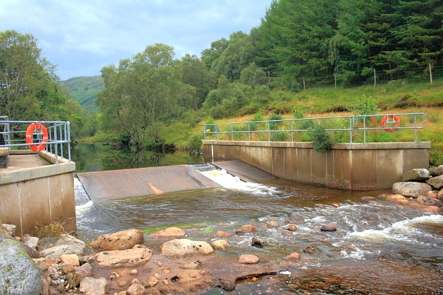 Weir on the Strontian River