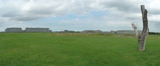 Richborough Castle Roman Fort - general view