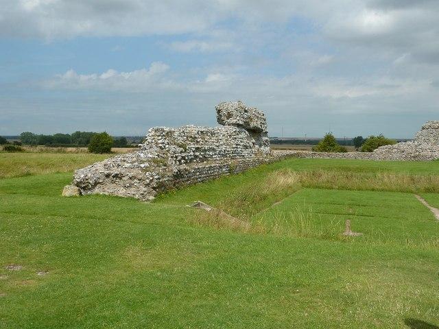 Richborough Castle Roman Fort - northwest corner