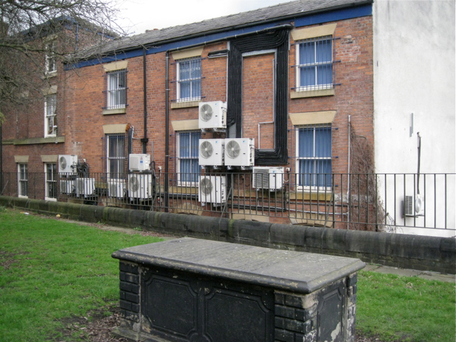 Air conditioning units, rear of Millgate