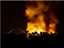 SD7807 : Factory Fire, Radcliffe, August 2012 by David Dixon
