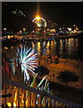 SX9163 : Torquay seafront by night by Derek Harper