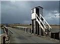 NU0842 : A refuge hut on Lindisfarne Causeway by Walter Baxter