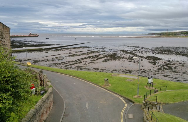 Mouth of River Tweed from ramparts