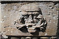SK8881 : Green Man Carving on Font, Stow Minster by J.Hannan-Briggs