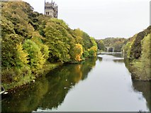 NZ2742 : River Wear and Durham Cathedral from Framwelgate Bridge by Chris Morgan