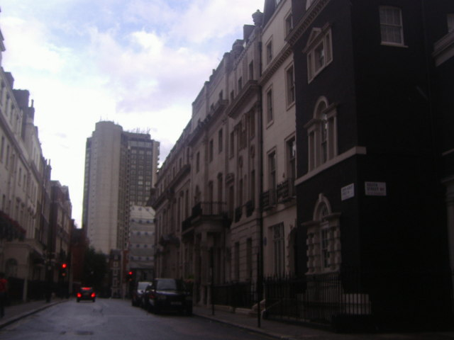 South Audley Street overlooking the Hilton Hotel
