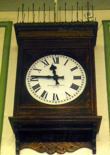 Station Clock, Boston Manor Station by PAUL FARMER