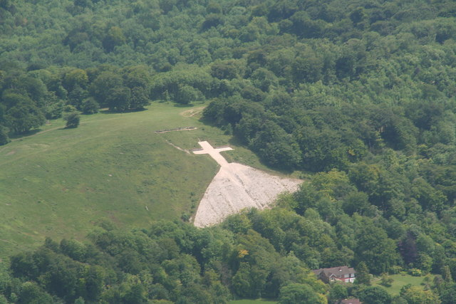 Whiteleaf Cross, aerial