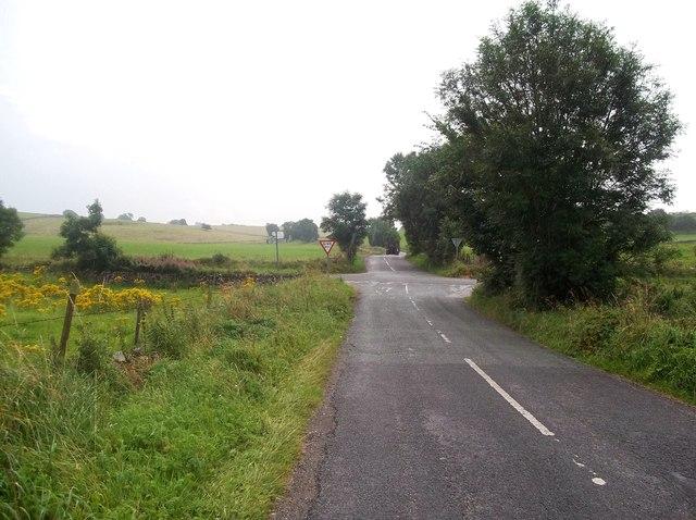 Road Junction viewed from Moor Lane