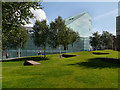SJ8398 : Cathedral Gardens, National Football Museum, Manchester by David Dixon