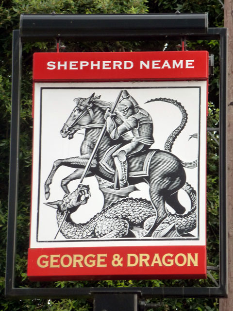 George and Dragon inn sign