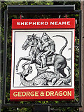 TQ1666 : George and Dragon inn sign by Robin Webster
