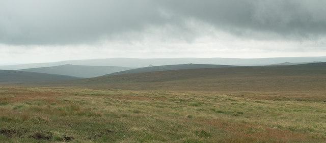 Rough moorland on Cut Hill