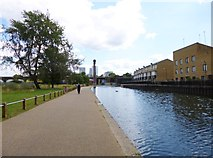 TQ3681 : Limehouse, canal by Mike Faherty