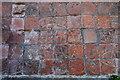 TR0739 : Encaustic floor tiles, St Mary's church, Smeeth by Julian P Guffogg
