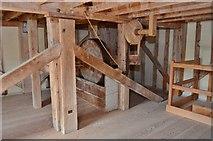 TM0819 : Thorrington Tide Mill - Sack Hoist by Ashley Dace