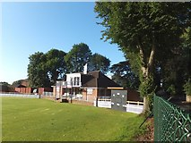 SX9392 : Cricket pavilion of Exeter School by David Smith