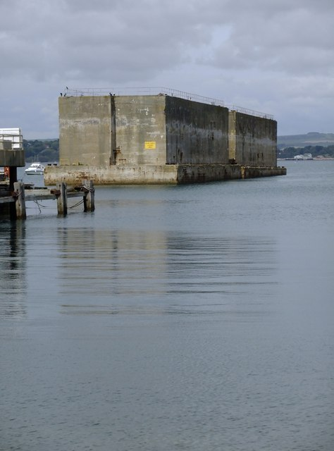 Mulberry harbours, off Castletown, Portland