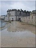 SY6874 : Portland Castle in the rain (1) by Stefan Czapski