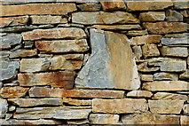 SH6441 : Detail of Footbridge Stone Support by Peter Trimming