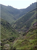 SK1087 : Towards the top of Grindsbrook Clough by Andrew Hill