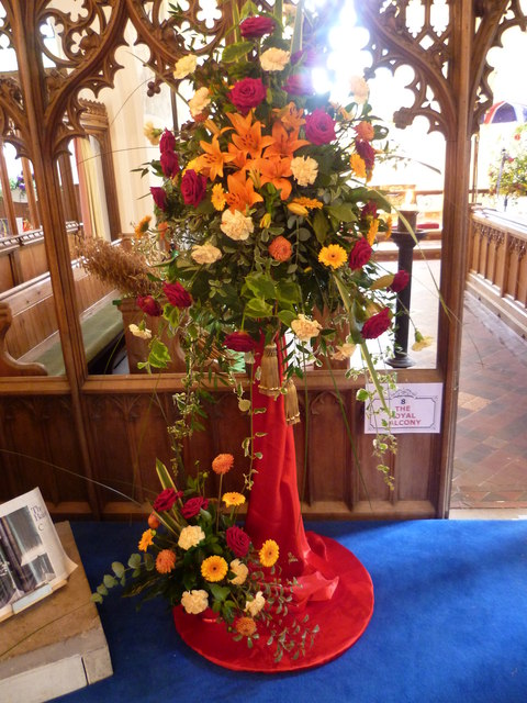 Flower festival at the church of St Cosmas and St Damian, Challock