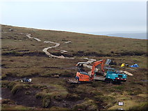 SK1087 : Footpath works towards Grindslow Knoll by Andrew Hill