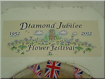 TR0149 : Welcome to the flower festival at the church of St Cosmas and St Damian, Challock by Marathon