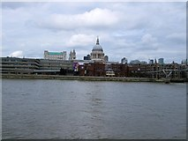 TQ3180 : View towards St Pauls from South Bank by Paul Gillett