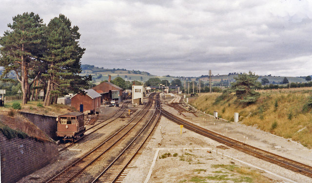 The junction at Castle Cary, 1984