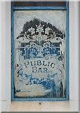 SY6874 : Pub window at Castletown, Portland by Stefan Czapski