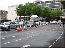 O1634 : Traffic segregation in Memorial Road during the Tall Ships Festival by Eric Jones