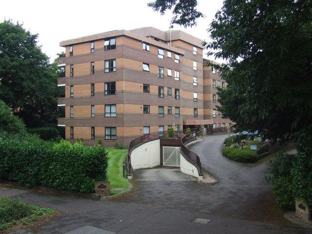 Block of flats at Branksome Park, near Poole