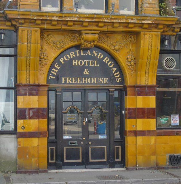Entrance to the Portland Roads Hotel & Freehouse, Castletown, Portland