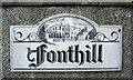 SX9372 : Sign for Fonthill by Robin Stott