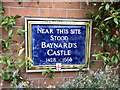 Photo of Baynard's Castle blue plaque