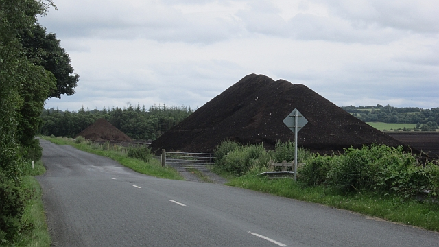 A pile of peat